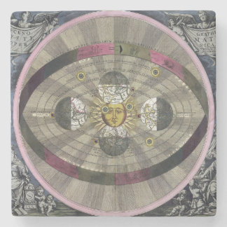 Copernican system of the Universe Stone Coaster