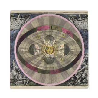 Copernican system of the Universe Wood Coaster