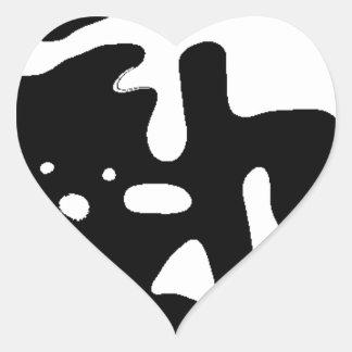 Copernican theory heart sticker