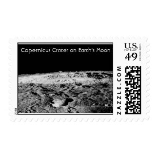 Copernicus Crater on Earth's Moon Postage Stamp