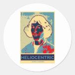 Copernicus Heliocentric (Obama-Like Poster) Sticker