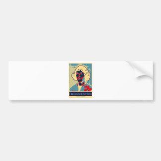 Copernicus heliocéntrico (Obama-Como el poster) Pegatina Para Auto