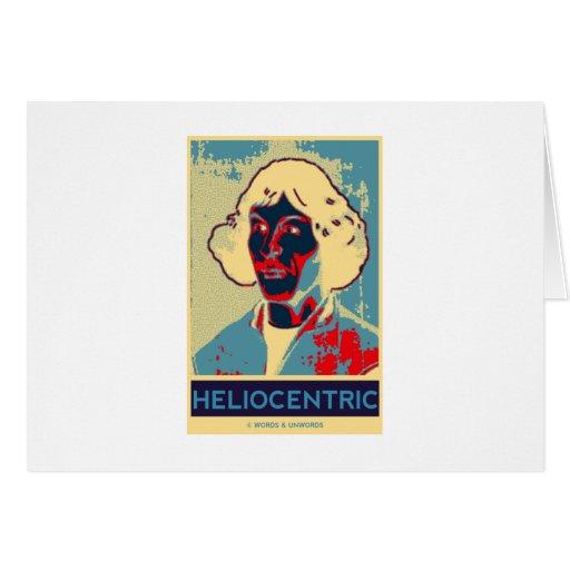 Copernicus heliocéntrico (Obama-Como el poster) Tarjeta De Felicitación