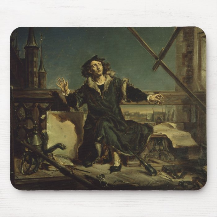 Copernicus in the tower at Frombork Mouse Pad