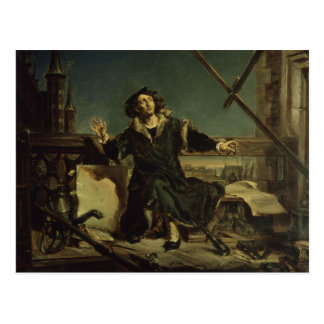 Copernicus in the tower at Frombork Postcard