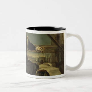 Copernicus in the tower at Frombork Two-Tone Coffee Mug