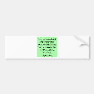 copernicus quote bumper stickers