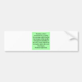 copernicus quote bumper sticker