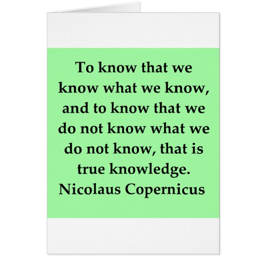 copernicus quote card