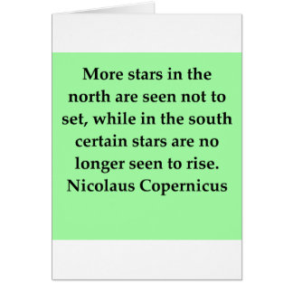 copernicus quote greeting card