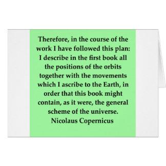 copernicus quote greeting cards