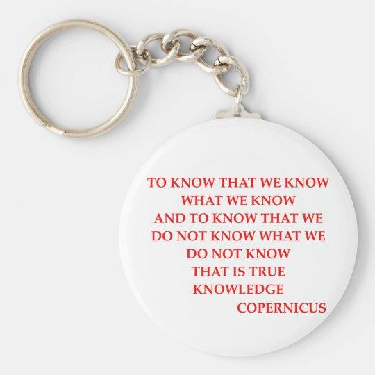 COPERNICUS quote Keychain