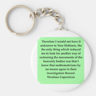 copernicus quote basic round button keychain