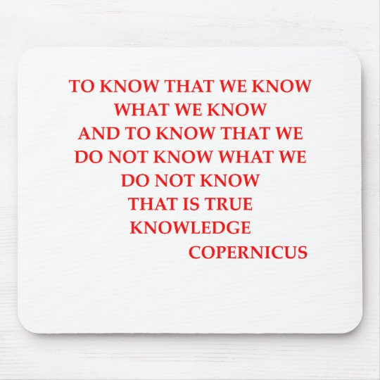 COPERNICUS quote Mouse Pad