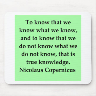 copernicus quote mouse pads