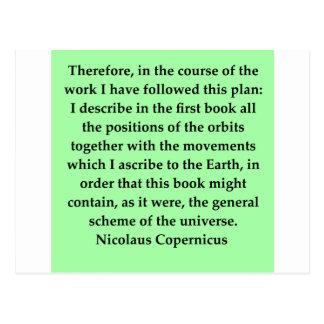 copernicus quote post card