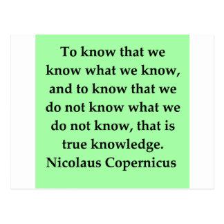 copernicus quote post cards