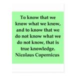 copernicus quote postcard