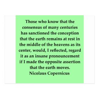 copernicus quote postcards