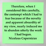 copernicus quote poster