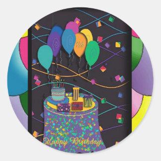 copia 18thsurprisepartyyinvitationballoons etiqueta redonda