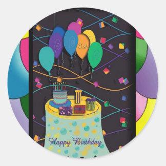 copia 21stsurprisepartyyinvitationballoons pegatina