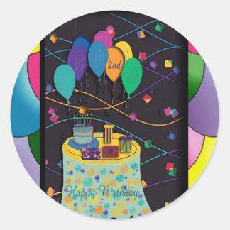 copia 2ndsurprisepartyyinvitationballoons pegatinas