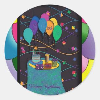 copia 30thsurprisepartyyinvitationballoons pegatina