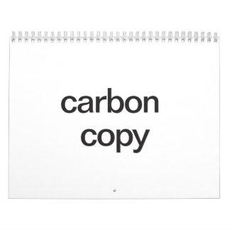 copia a carbón calendario