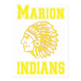 Copia amarilla de los indios de Marion Postal
