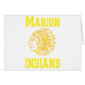 Copia amarilla de los indios de Marion Tarjeta De Felicitación