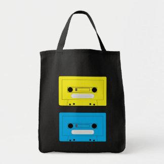 copia amarilla del casete, casete azul bolsa tela para la compra
