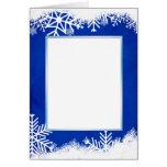 Copia azul de la tarjeta 5x7 de la nieve