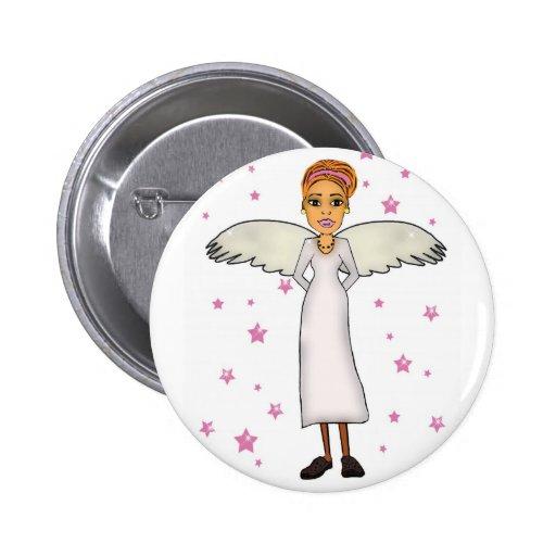 copia blanca del ángel de guarda pin