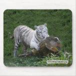 Copia blanca del tigre 015 tapete de raton