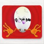 copia caida del huevo alfombrilla de raton