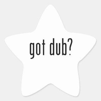 ¿copia conseguida? pegatina en forma de estrella