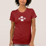 Copia cruzada blanca camiseta