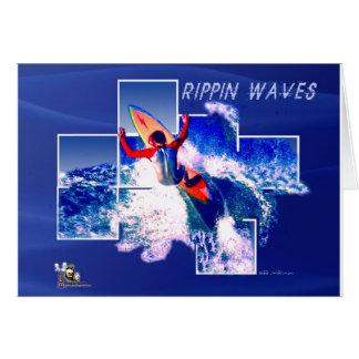 Copia de la camisa de la onda de Rippin Tarjeta De Felicitación