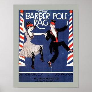 Copia de la cubierta de la partitura del vintage d póster