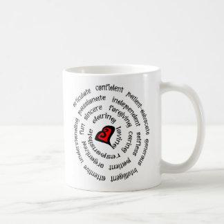 copia de la enfermera del corazón taza de café