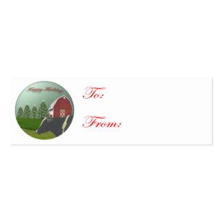 Copia de la etiqueta de la vaca de Angus Tarjetas De Visita
