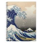 "Copia ""de la gran onda"" del c.1930 original de Hok Libretas"