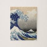 """Copia """"de la gran onda"""" del c.1930 original de Hok Rompecabeza Con Fotos"""