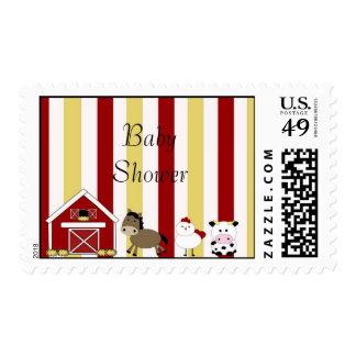 copia de la granja BabyShower sellos