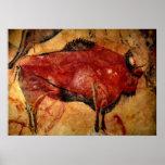 Copia de la pintura de cuevas del bisonte posters