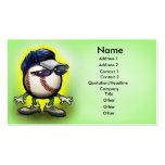 Copia de la tarjeta de la gorra de béisbol, nombre plantillas de tarjetas de visita