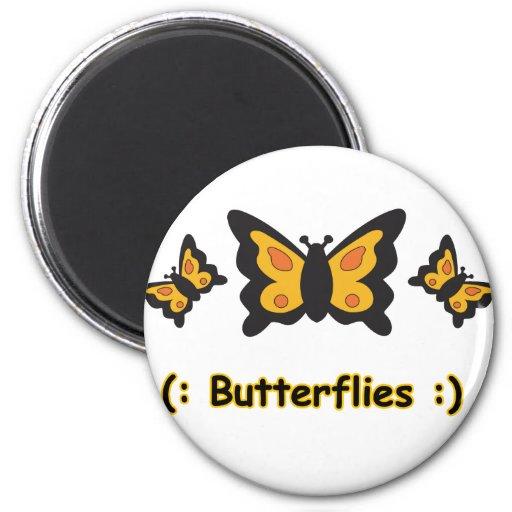Copia de las mariposas imanes de nevera