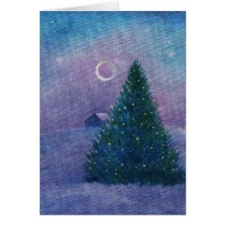 copia de las xmastree-estrellas tarjeta de felicitación