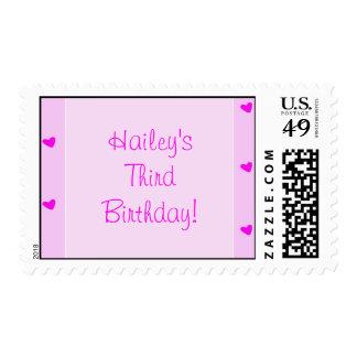 ¡copia de los girlhearts, Hailey'sThirdBirthday! Sello